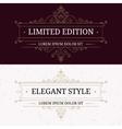Set of vintage frames for luxury logos vector image