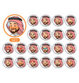 the first set of saudi arab man cartoon character vector image