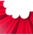 Comic background red sketch explosion vector image