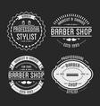 set of vintage barber shop logo and beauty spa vector image