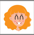 Pretty blonde hair woman laughing facial vector image