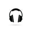 headphones black and white vector image