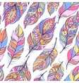pattern with colorful abstract feathers vector image