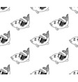 carp seamless on white background vector image