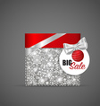 Christmas background with Cosmetics packaging gift vector image