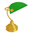 Classical desk lamp vector image