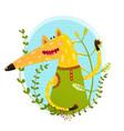 fox portrait in wild vector image