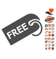 free tag icon with dating bonus vector image