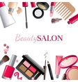Glamorous make-up background vector image