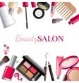 Glamorous make-up background vector image