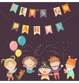 Kids celebrating Birthday vector image