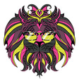 Lion Hipster7 vector image