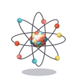 Multicolored and isolated atom design vector image