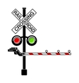 Rail crossing signal icon simple style vector image