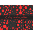 Seamless pattern with circles and dots vector image