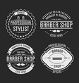 set of vintage barber shop logo and beauty spa vector image