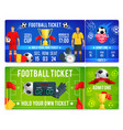 tickets template for soccer football cup vector image