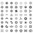 Unusual Icons Set - Isolated On white Background vector image