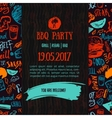 BBQ opening party announcement Doodle hand-drawn vector image