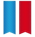 Ribbon bookmark vector image