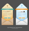 Email info graphic vector image