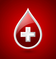 Red blood medical icon vector image