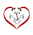 Stylized horses in love logo vector image vector image