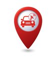 cars satelite RED pointer vector image vector image