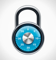 combination padlock vector image