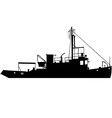 tugboat silhouette vector image