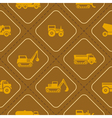 seamless background with trucks vector image