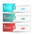 Banner Gift Voucher Template vector image