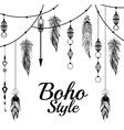 boho style design vector image