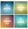 Summer Holidays Retro Typography Set vector image vector image