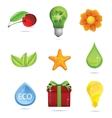 nature and eco symbols big set vector image