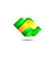 Solid Block Logo vector image vector image