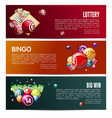bingo lottery online lotto game web banners vector image