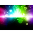 glowing multicolored background vector image