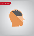 isolated invention flat icon thinking vector image