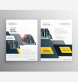 modern yellow brochures set for business vector image
