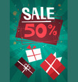 sale discount different gift boxes collection vector image