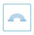 Rainbow icon vector image