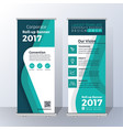 vertical roll up banner template vector image