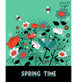 Spring time garden background vector image vector image