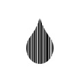 Droplet shaped bar code vector image vector image