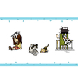 Pet set vector image