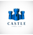 Castle Towers Concept Symbol Icon or Logo Template vector image