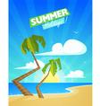 Summer Cartoon Background vector image