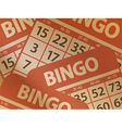 Bingo cards on brown paper vector image