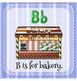 Flashcard B is for bakery vector image